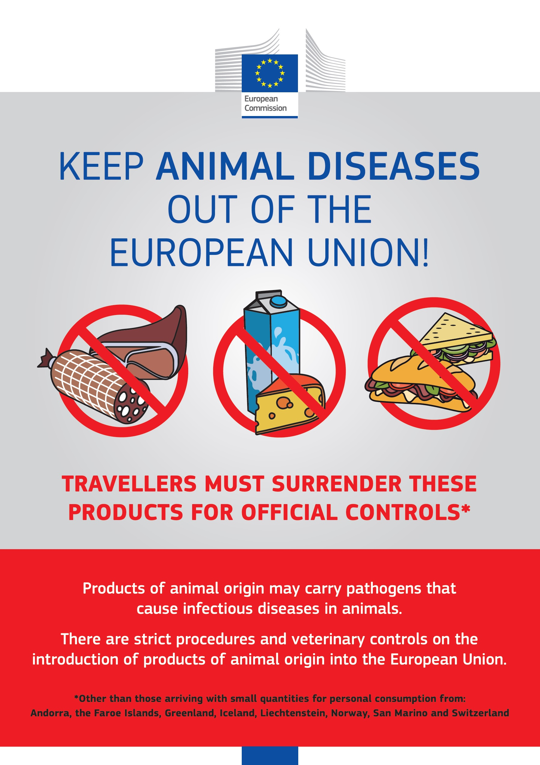 Keep animal diseases out of the European Union